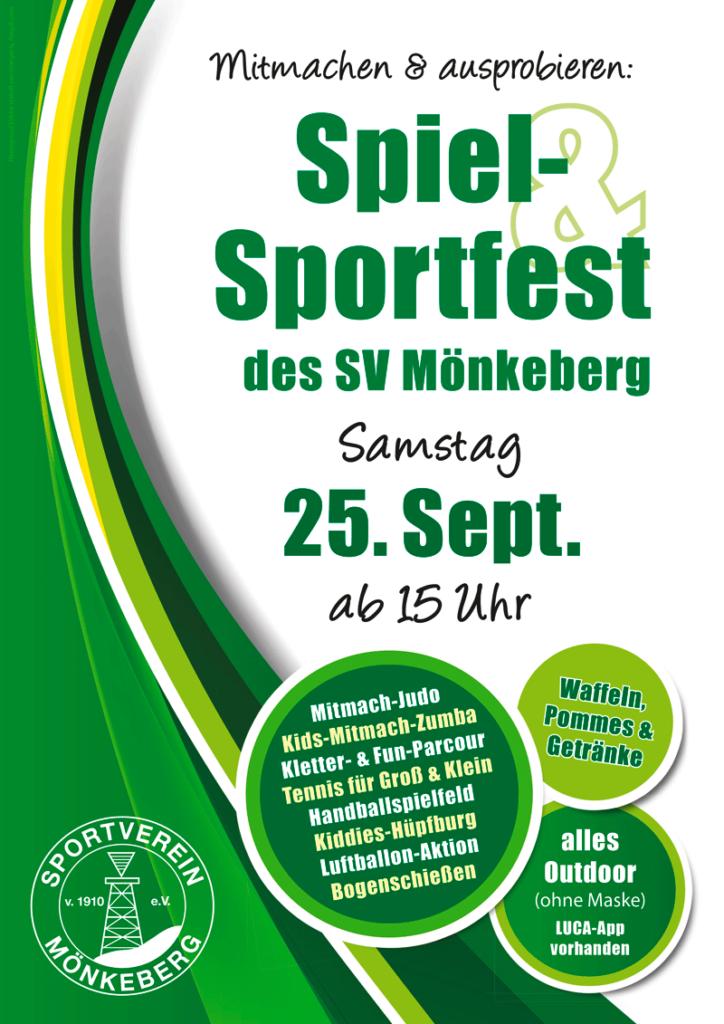 Einladung zum Spiel- & Sportfest